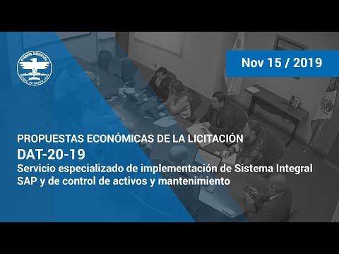 DAT-20-19 Servicio especializado de implementación de Sistema Integral SAP - P. Economicas