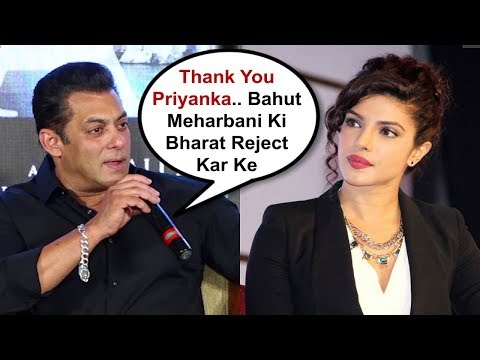 Salman Khan Sh0cking Reaction On Priyanka Chopra Rejecting Bharat