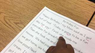 Fremont 1st grade 1 minute fluency practice