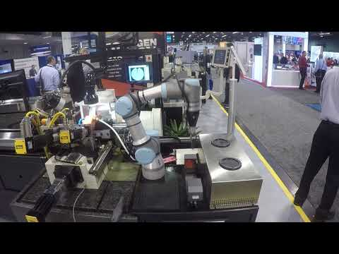 Machine Tending with a UR3 Robot