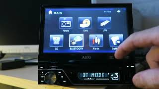 AEG AR 4026 1-DIN DVD / Multimedia car audio player with Bluetooth® handsfree and remote control