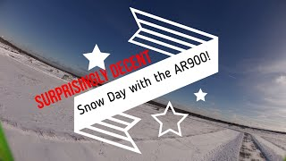 Fastest FPV AR Wing 900 | Snow Day Flight! Flying after a blizzard in the snow!