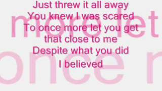 Melissa Smith I Believed lyrics