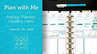 Blue/Green Spread :: Plan with Me :: Happy Planner Healthy Hero