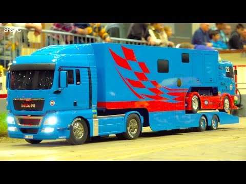 BEST OF RC TRUCK PARCOURS I SPECIAL RC MODELS I IG M. T.& B. I RC RACE-TRUCK TRANSPORT I CONVOY
