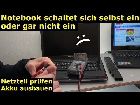 Medion Notebook schaltet sich selbst ein oder gar nicht ein - Laptop Netzteil testen - [4K Video]