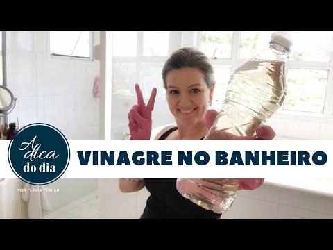 Limpar banheiro c/ vinagre