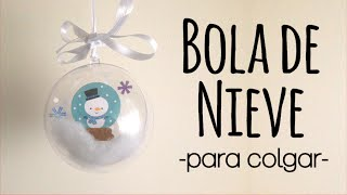 DECORACIÓN NAVIDEÑA BOLA NEVADA