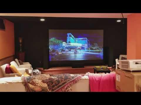 Optoma UHD60 Projector + Nano Tech Dark Gray screen