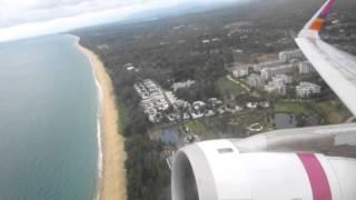 Airbus A320 take off Phuket Airport