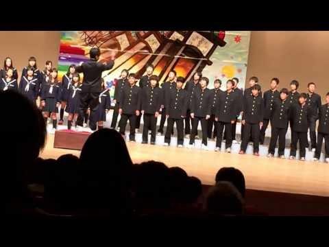 男山第二中学校 合唱 ゆず逢いたい