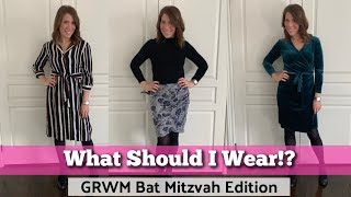 Get Ready With Me - Bat Mitzvah Edition! Hair Styling, Makeup Routine & Outfit Try On