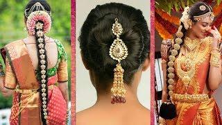 Indian Bridal Hairstyles | Wedding Hairstyles Step By Step | Bridal Bun And Bridal Plait Hairstyles