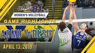 UAAP 81 WV: ADMU vs. DLSU | Game Highlights | April 13, 2019