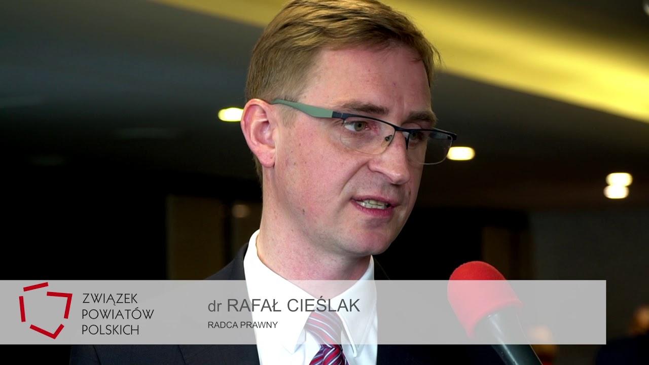 Dr Rafał Cieślak podczas XXV Zgromadzenia Ogólnego Związku Powiatów Polskich