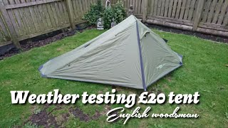 Weather testing a low budget £20 one man tent from Yellowstone
