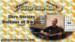 Sultans of Swing - Dire Straits - Acoustic Rhythm Guitar Lesson (ft. my son Jason on lead etc.)