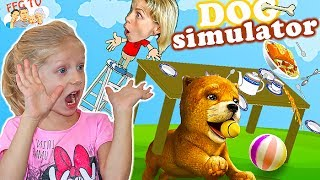 СИМУЛЯТОР ВРЕДНОЙ СОБАКИ от FFGTV детский летсплей плохая собака все ломает веселое видео для детей
