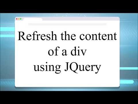 Refresh/ Reload the content of a div using JQuery