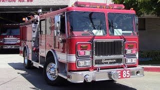 LAFD Engine 85 Responding (Air Horn)