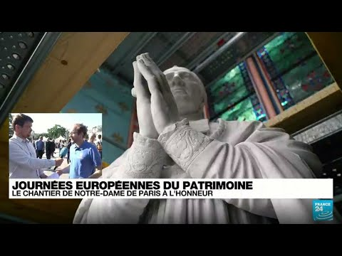 Journées du patrimoine : le chantier de Notre-Dame de Paris mis à l'honneur • FRANCE 24