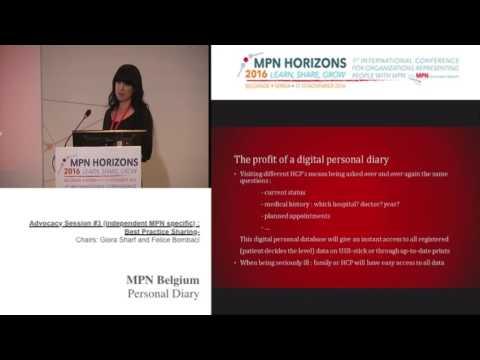 Advocacy session #3 Best practice MPN Belgium