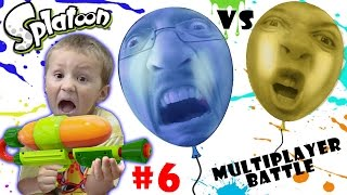 Lets Play SPLATOON Part 6: POP BALLOONS BATTLE! (FGTEEV MULTIPLAYER ACTION)