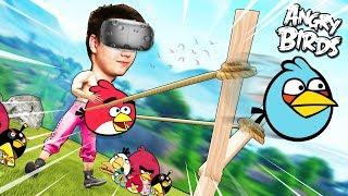 САМАЯ БОЛЬШАЯ РОГАТКА В ВИРТУАЛЬНОЙ РЕАЛЬНОСТИ (HTC Vive) Angry Birds VR