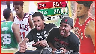 JIMMY BUTLER COMES ALIVE AGAINST MARCUS SMART AND CELTICS! - NBA 2K17 Gameplay