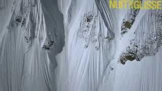 Сноуборд. Опасный спуск.