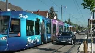 preview picture of video 'Straßenbahn Darmstadt - Die Strecke nach Arheilgen XXL (2012) (HD)'