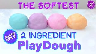 DIY Super Soft Play Dough!  No Cook, 2 Ingredients!