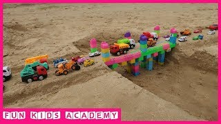 Build a Bridge with Assembled Toys and Car Toys for Kids | Videos for Children
