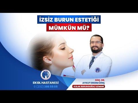 İzsiz Burun Estetiği Mümkün Mü? - Doç. Dr. Aykut Erdem Dinç - İzmir Ekol Hastanesi