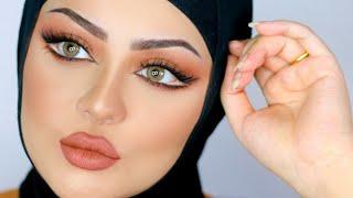Doll Eyes With Orange Makeup |MARWA YEHIA| مكياج اورنج وتعليم توسيع العين كعيون الدميه مع مروة يحيي