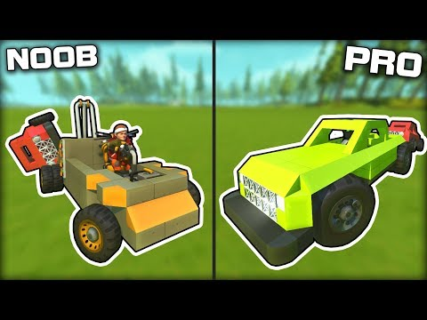 NOOB vs PRO Tow Truck Recovery Challenge! (Scrap Mechanic Gameplay)