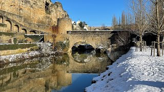 preview picture of video 'Winter of Luxembourg City - hiver Luxembourg ville - vidéo de tourisme - Grand-Duchy travel video'