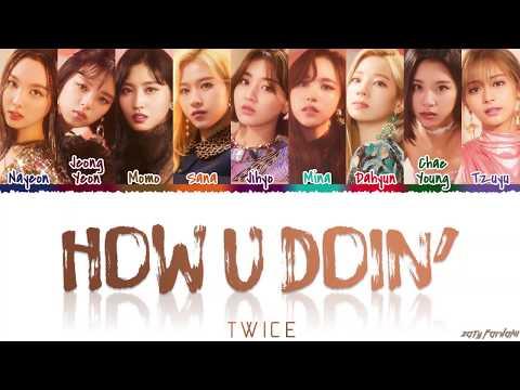 TWICE (トゥワイス) - 'HOW YOU DOIN'' Lyrics [Color Coded_Kan_Rom_Eng]