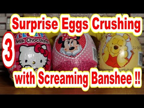 Surprise Egg Unboxing Helped By Pixar Cars Screaming Banshee..lol..