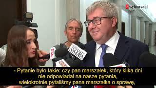 Czy marszałek Sejmu może kłamać? Nasze pytanie zbiło z tropu Czarneckiego.