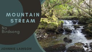 Forest Waterfall Nature Sounds W/O Birds Singing Relaxation-Meditation-Mindfulness