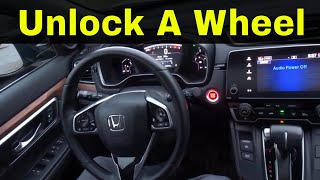 How To Unlock A Push To Start Steering Wheel-Driving Tutorial