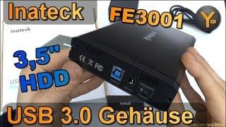 """Inateck FE3001 / USB 3.0 Festplatten Gehäuse für 3,5"""" und 2,5"""" S-ATA Festplatte / Externes HDD Case"""