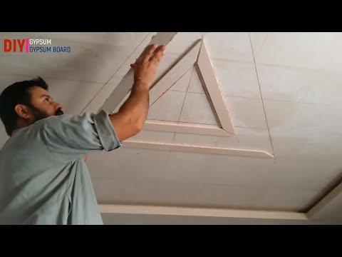 How to make false ceiling decore 2018    gypsum ceiling dicor