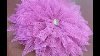How to make beautiful tulle flower 🌼