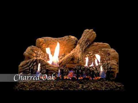Charred Oak Ceramic Fiber Gas Log Set by Empire Comfort Systems