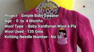 Knitting Simple & Easy Baby Sweater || Latest Hindi Video ||