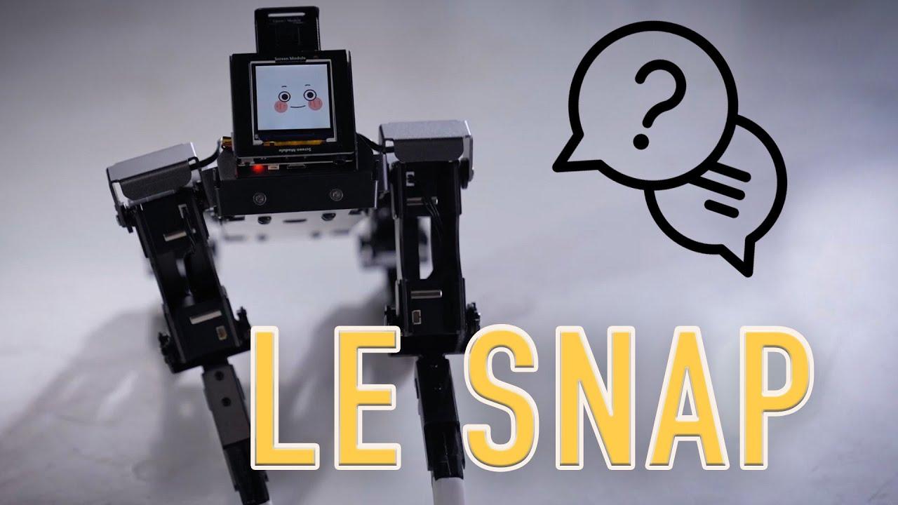 Le Snap #43 : un quadrupède robotique intelligent