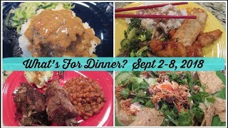 What's For Dinner?  Sept 2-8, 2018 | Cooking for Two