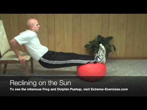 Reclining on the Sun Exercise- ALERT - BEST triceps move!